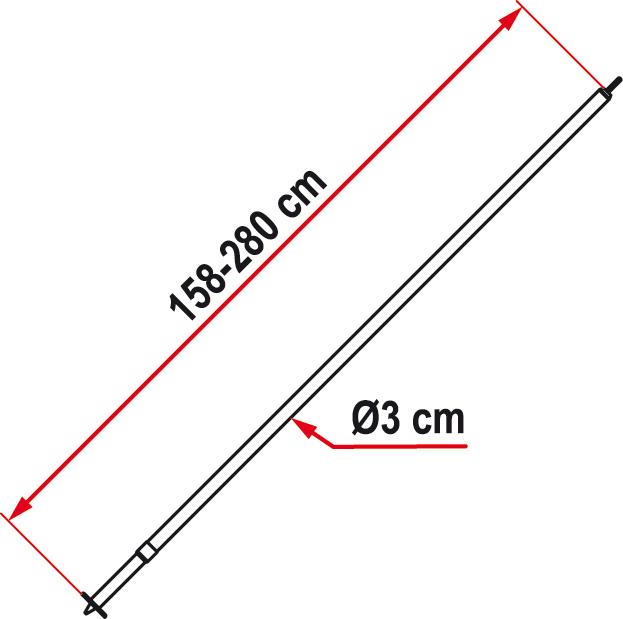 Fiamma Door Pole Zip Door Pole F45 Awning Amp Privacy Room